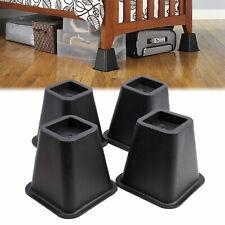 4-Pack Under Bed Leg Risers Storage Lift Furniture Lifts Raiser Table Desk 6465