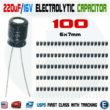 100PCS 220uF 16V 105C Capacitor Electrolytic 6x7mm for 16V 10V 6.3V Aluminum