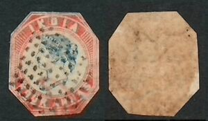 INDIA Indian 1854-1855 QV LITHOS 4a Blue and Red Sg #18 1st Printing High CV !!