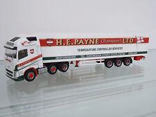 "Herpa 306164 1:87 Volvo FH Gl. XL 6x2 Kühlkoffer-Hängerzug ""H.E.Payne"" (GB) NEU"
