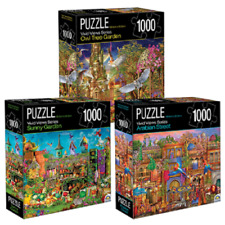 3 x Vivid Views Series 1000 Piece Jigsaw Puzzles 69 x 51cm Crown FREE POST NEW