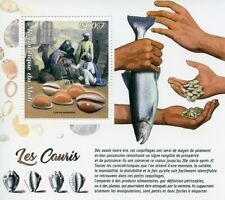 Mali 2018 MNH Cowries Seashells 1v S/S Cauris Shells Marine Stamps