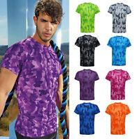 TriDri Hexoflage Performance T-Shirt (TR015)-Workout Fitness Running Gym Sport T
