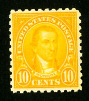 US Stamps # 591 XF OG NH P.O. Fresh