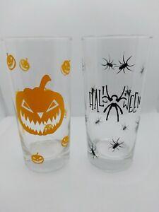 Spooky creepy halloween drinking Glasses, handmade Halloween drinking Glass