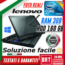 "PC NOTEBOOK LENOVO THINKPAD X200 TABLET 12"" INTEL CORE 2 DUO 3GB RAM HDD 160GB"