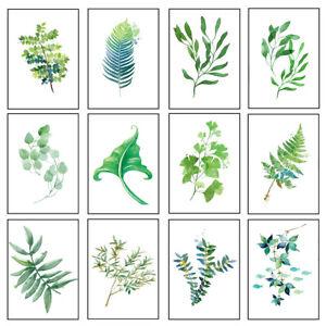 Green Leaf Art Prints Botanical Wall Poster Picture Minimalist Decor Unframed