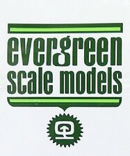 EVERGREEN SCALE MODELS 9006 SHEET STYRENE CLEAR FOGLIO STIRENE TRASPARENTE 0.25