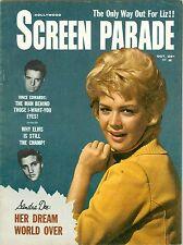 Sandra Dee Elvis Presley Vince Edwards cover Screen Parade magazine 1962