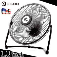DIGOO Metal 10-Inch Desk Cooling Fan USB Rechargeable Low Noise Strong Airflow