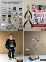 M01254 MOREZMORE HPA-M3 STANDARD Humanly Posable Armature STARTER Puppet Kit