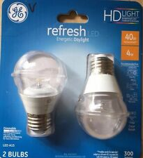 40W Equivalent Daylight (5000K)High Definition A15 Clear Dimmable Led Light 2 Pa