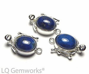 LAPIS 925 Sterling Silver 8x10mm Box Clasp