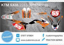 KTM SX85 Kit completo de gráficos 2003-2012 2013-2017 2018 SX 85