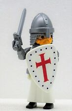 TEMPELRITTER MIT SCHWERT UND SCHILD PLAYMOBIL zu Templer Crusader Custom UNIKAT
