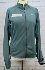 Nike Element Shield Running Jacket Green Athletic Reflective Exercise Womens L