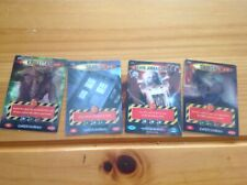 4x Dr Who Battles in Time  3D Trading cards incl U/Rare Tardis Exterminator 074