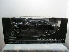 1/18 ERTL AMERICAN MUSCLE AUTHENTICS BLACK 1967 CHEVY IMPALA SS 427