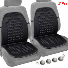 2PC Car Seat Pad Therapy Massage Bubble Padded Chair Seat Cushion Cover Black