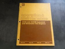Caterpillar CAT 3406 3406B Industrial and Generator Set Engines Operation Manual