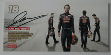 JEAN-ERIC VERGNE original signed card Formula 1 TORO ROSSO 2013 - ST501001217