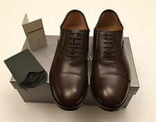 New w Box Antonio Maurizi Leather Lace Up Cap Toe Shoes Oxfords Brown Men 8 US