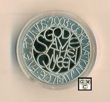 2003 Queen's Coronation Anniversary 5 Pounds Sterling Silver Proof Coin (OOAK)