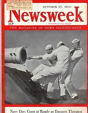 Newsweek 1941, Navy Day, Guns at Ready