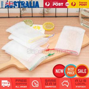 5x Soap Saver Bag Suds Bubbles Maker Sack Sock Pouch Holder Mesh Foaming Net Bag