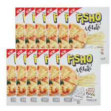 12Pcs FISHO WHITE Double Cheese Pizza Flavor Fish Snack Party Low Fat Halal 25g