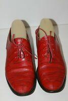 MANFIELD Derbies Femme vintage Cuir Imprimé Rouge T 39 BE