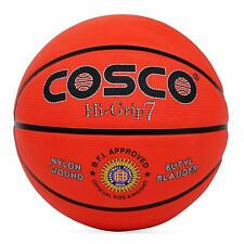 Cosco Hi-Grip Basket Ball, Size 7 (Orange) Free shipping