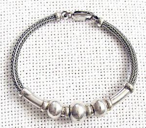 India antique mesh massive bracelet, 28 gr. hand crafted, hammered. length: 17.5