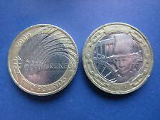 RARE PAIR OF 2006 £2 COINS ISAMBARD KINGDOM BRUNEL ENGINEER
