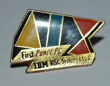 IBM / AIX  RISC system 6000 First Power PC old vintage computing pin badge