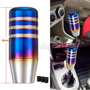 Universal Car Aluminum Manual Gear Shift Knob Shifter Handle Lever Stick  ~`