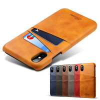 PU Leather Wallet Phone Stand Case Cover with Card Holder For iPhone 7 8 X XR XS