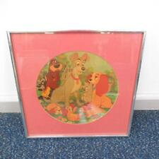Vintage Disney Vinyl Picture LP Record Soundtrack Lady And The Tramp Framed 41cm