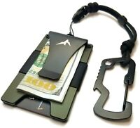 EDC Slim Tactical Wallet Money Clip Credit Card Holder Minimalist RFID Blocking