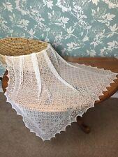 Stunning 100% cashmere  baby shawl / blanket.  col. Optic White