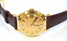 W287-VINTAGE 14K GOLD LONGINES ULTRA-CHRON AUTOMATIC DATE GENTS WATCH