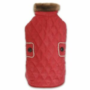 Zack & Zoey Elements Derby Quilted Coat Jacket VEST SUEDE lined RED MISC SIZES