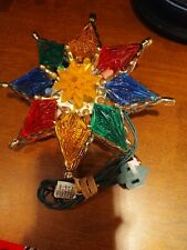 Vintage Tree Topper - Star Shape Lighted Top - Colorful