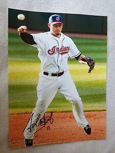 Cleveland Indians Asdrubal Cabrera Signed 11x14  Photo Auto