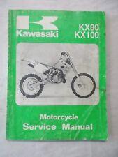 New listing 1991 Kawasaki Kx80 Kx100 Motorcycle Service Repair Shop Manual 99924-1144-01