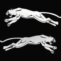 2x Panther Aufkleber Auto Motorrad links rechts gespiegelt Tiger Sticker Silber