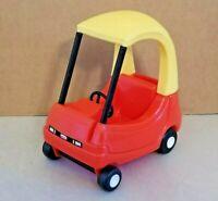 "Vintage Little Tikes Cozy Coupe Dollhouse Mini Size 6"" Car Red Yellow Miniature"