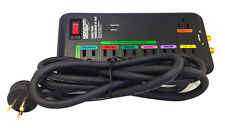 Monster MP AV 785G Green Power Surge Protector - 7 Outlets - Black - 2160 Joules