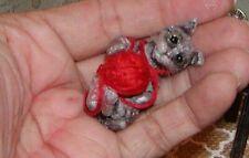 "Dollhouse Miniatures Halloween Cat ""Mischievous"""