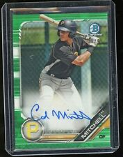 2019 Bowman Chrome Cal Mitchell Green Refractor Auto 25/99 Pittsburgh Pirates RC